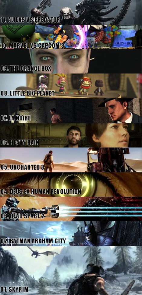 Top 11 Games of 2011