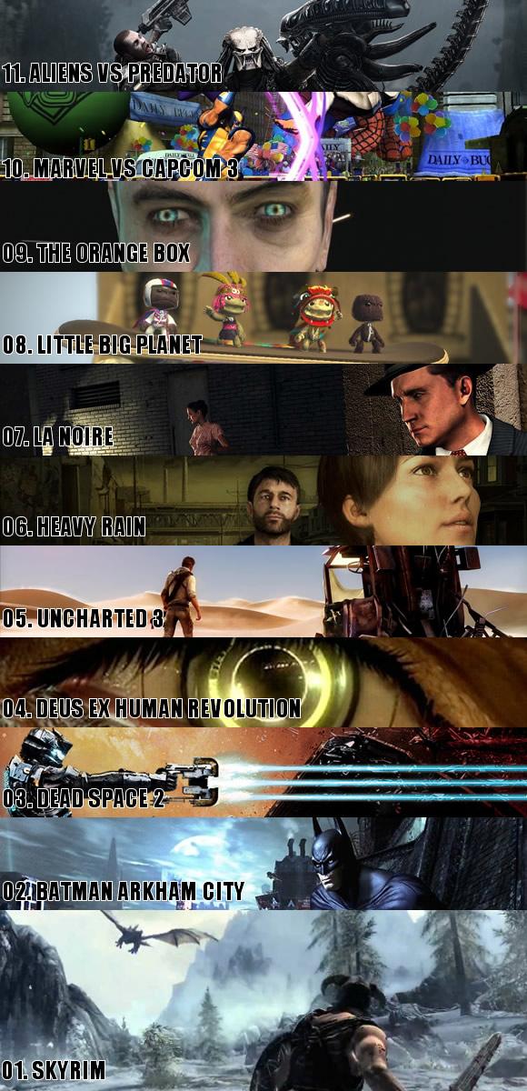Top 11 Games of 2011