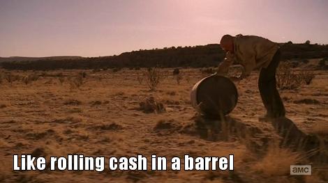 breaking bad walt barrel